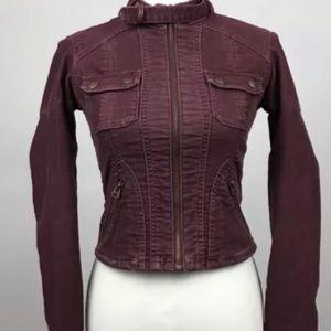 Abercrombie & Fitch Burgundy Corduroy Jacket XS